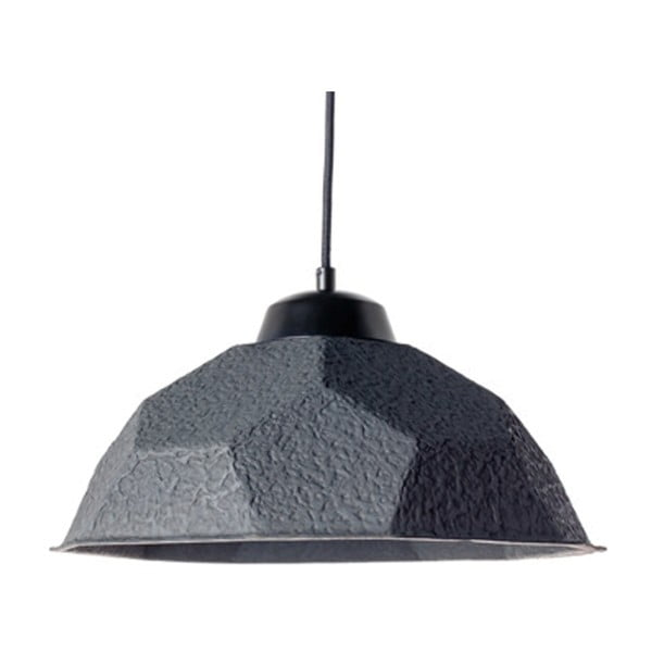 Czarna lampa wisząca z papierowym kloszem z recyklingu Design Twist Mosen