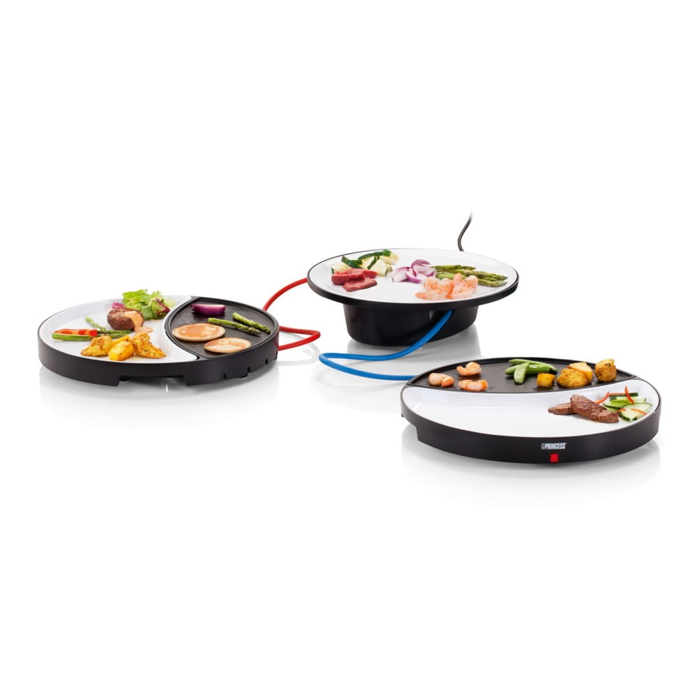 Elektrický gril s ohřevnou plochou z teflonu a keramickým talířem Princess Dinner4all