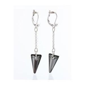 Černé náušnice s krystaly Swarovski® Yasmine Crystal