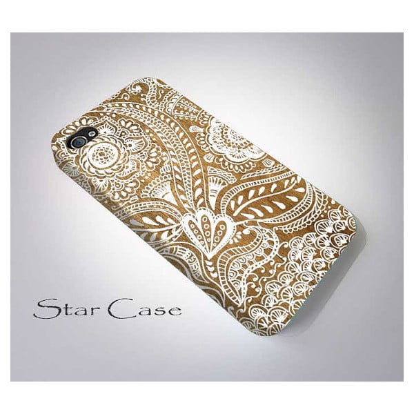 Obal na iPhone 5/5S Pretty Wooden White Flower
