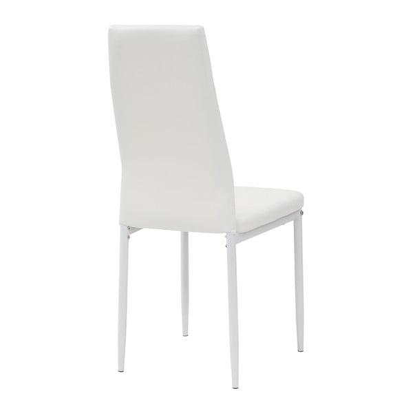 Jídelní židle Queen, bílá/bílá