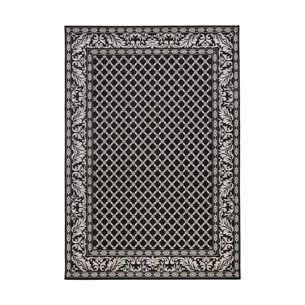 Černo-krémový venkovní koberec Bougari Royal, 160x230cm