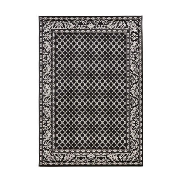 Čierny koberec vhodný aj do exteriéru Royal, 115 × 165 cm