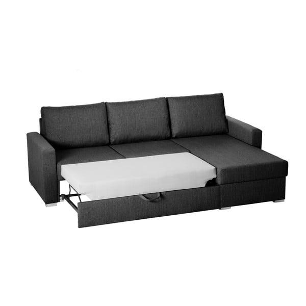 Canapea pe colț Florenzzi Platti, gri închis