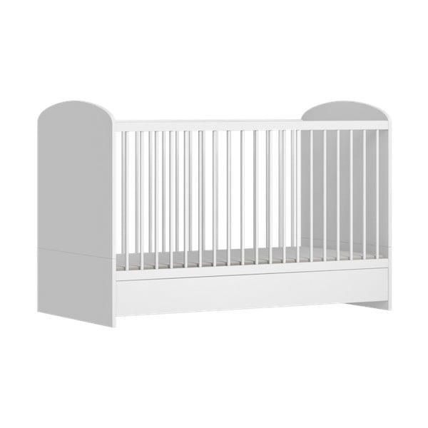 Biela detská postieľka FAKTUM Mia, 140 × 70 cm