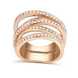 Pozlacený prsten s krystaly Swarovski Natalia, velikost 52
