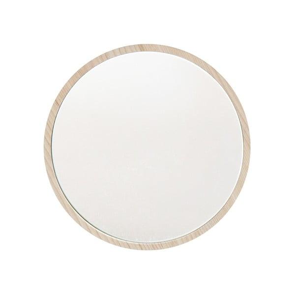 Cuier de perete cu oglindă Furniteam Beauty, ⌀ 15 cm