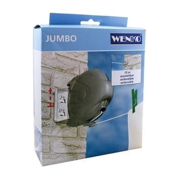 Sârmă de rufe extensibilă, Wenko Jumbo, 15 m lungime imagine