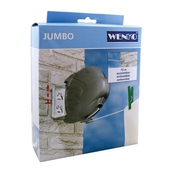 Sârmă de rufe extensibilă, Wenko Jumbo, 15 m lungime