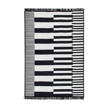 Covor reversibil Klotho, 120 x 180 cm, alb-negru