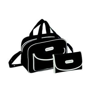 Set černé tašky na kočárek a přebalovací podložky Naf Naf Dots