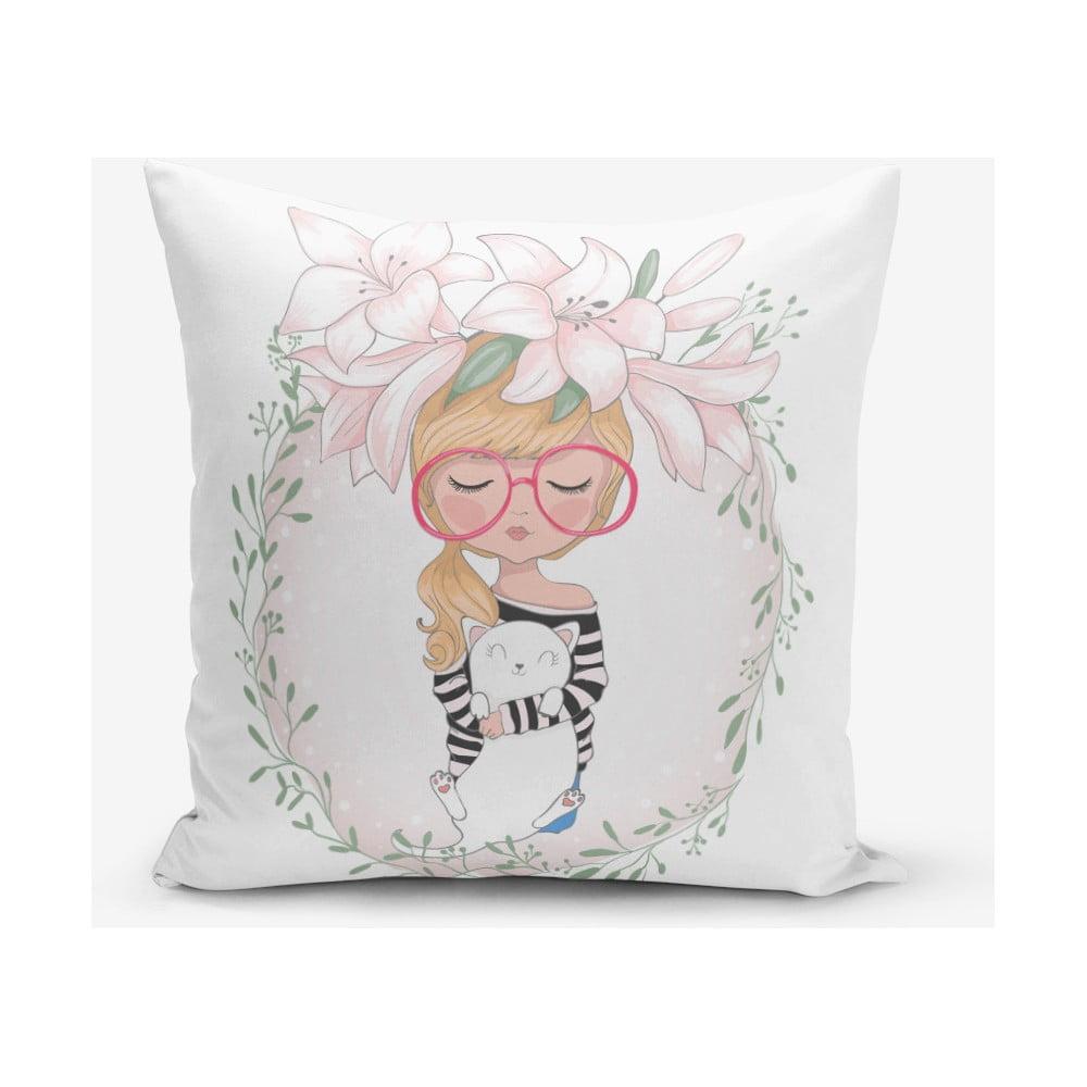 Povlak na polštář s příměsí bavlny Minimalist Cushion Covers Student, 45 x 45 cm
