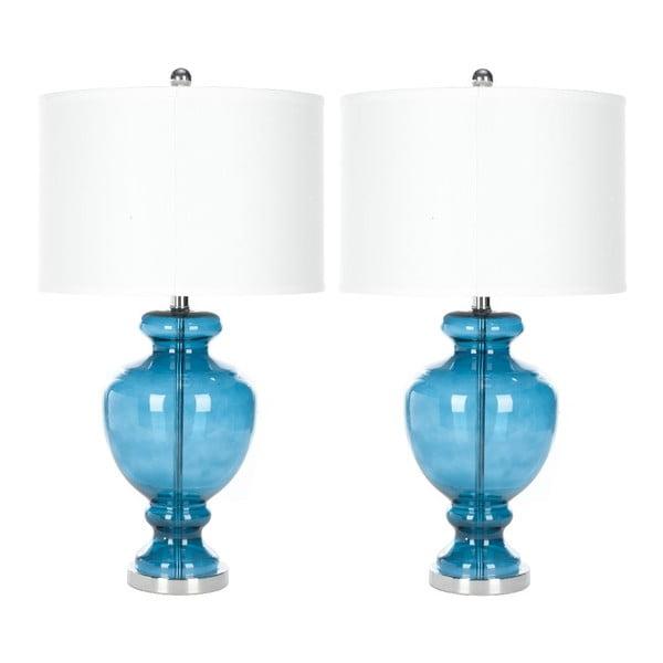 Zestaw 2 lamp stołowych Safavieh Turquoise