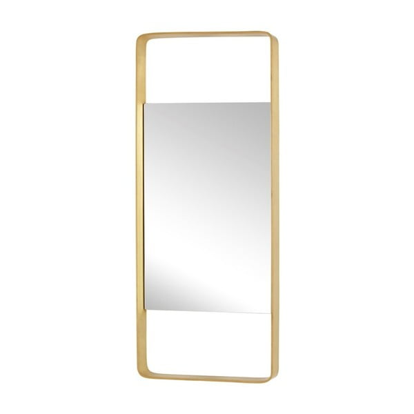 Zrcadlo v rámu s mosaznou barvou Hübsch Tovi, 31x76cm
