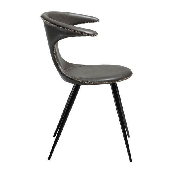 Šedá koženková židle DAN-FORM Denmark Flair