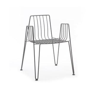 Šedá židle Mobles 114 Rambla