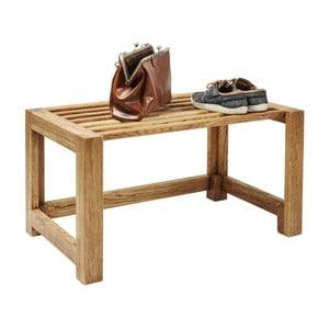 Pantofar din lemn masiv de stejar Kare Design Attento