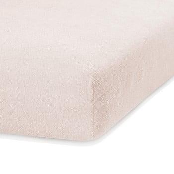 Cearceaf elastic AmeliaHome Ruby, 200 x 140-160 cm, bej deschis