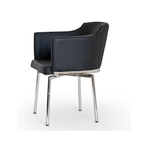 Sada 2 černých otočných židlí RGE Detroit