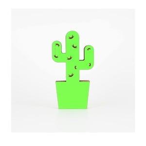 Zelená kartonová dekorace ve tvaru kaktusu Dekorjinal Pouff Cactus, 25x13cm