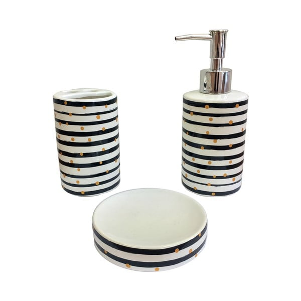 3dílný set doplňků do koupelny Maiko Luxury