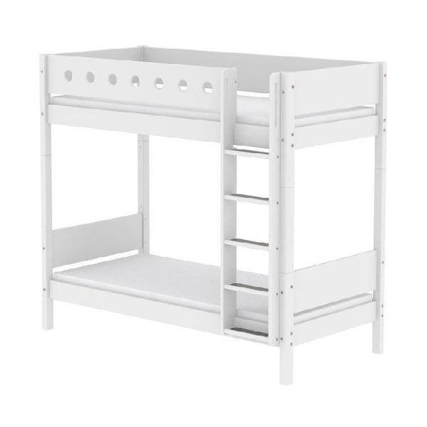 Białe duże łóżko piętrowe Flexa White