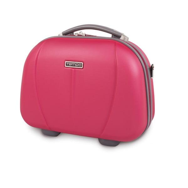Kosmetická cestovní taška Tempo, jahodově červená