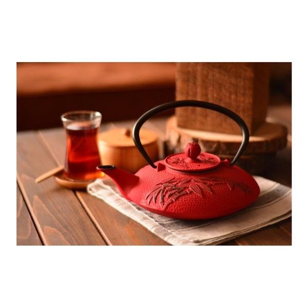 Červená železná čajová konvice Bambum Mate, 720 ml