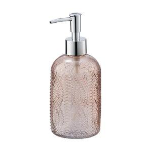 Růžový skleněný dávkovač mýdla Wenko Vetro