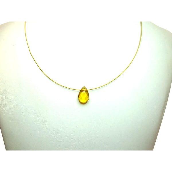 Zlatý náhrdelník Citrine Teardrop (citrín)