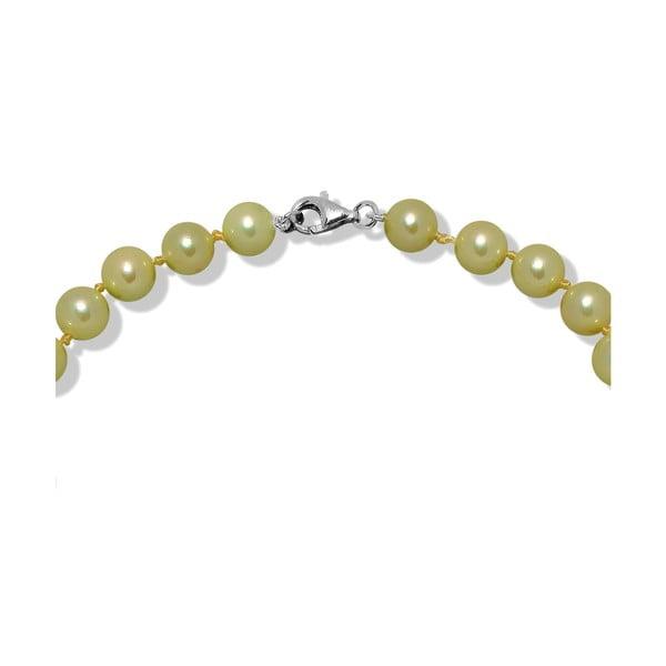 Limetkový perlový náhrdelník Mara de Vida Only Me, délka 45cm