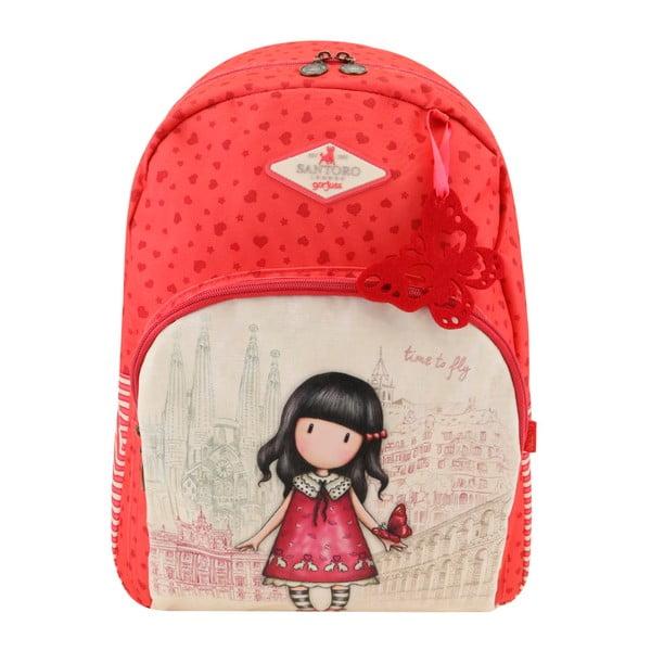 Červený batoh Santoro London Rosebud