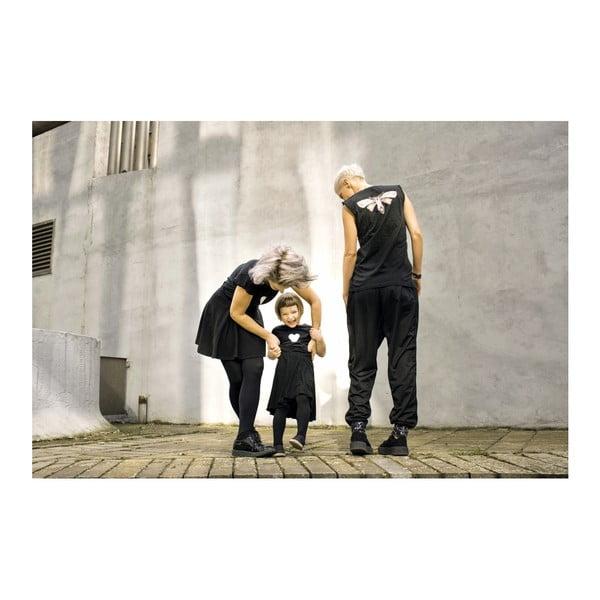 Dámské černé dlouhé triko s rozparky s motivem Spolu od Lény Brauner & IM Cyber pro KlokArt, vel.M