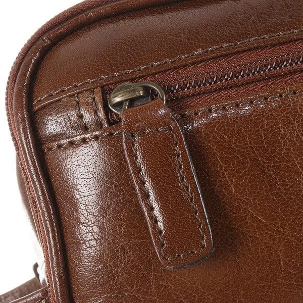Pánská kožená kosmetická taška Naturally Tanned Leather