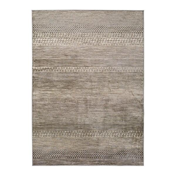 Šedý koberec z viskózy Universal Belga Beigriss, 70 x 220 cm