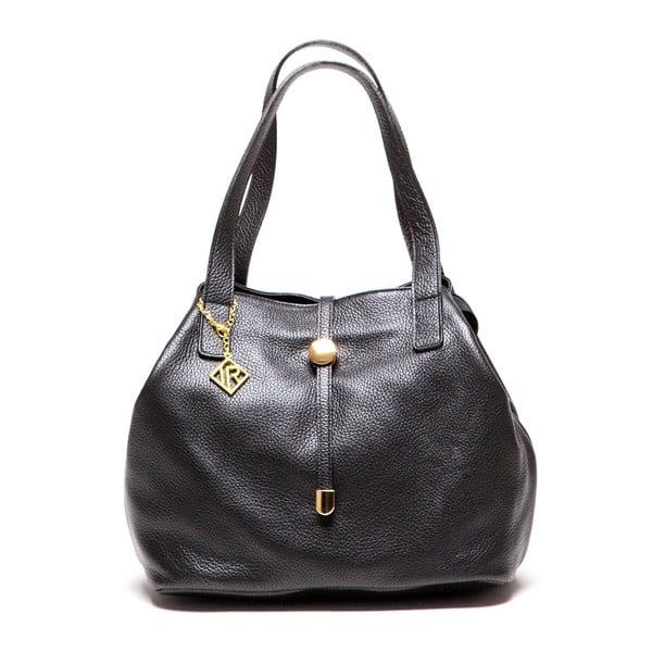 Kožená kabelka Tote 1116 Nero