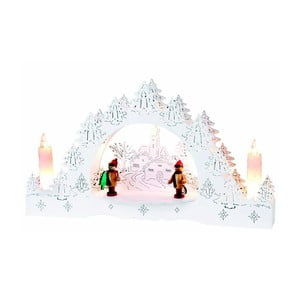 Svítící dekorace Merry, bílá