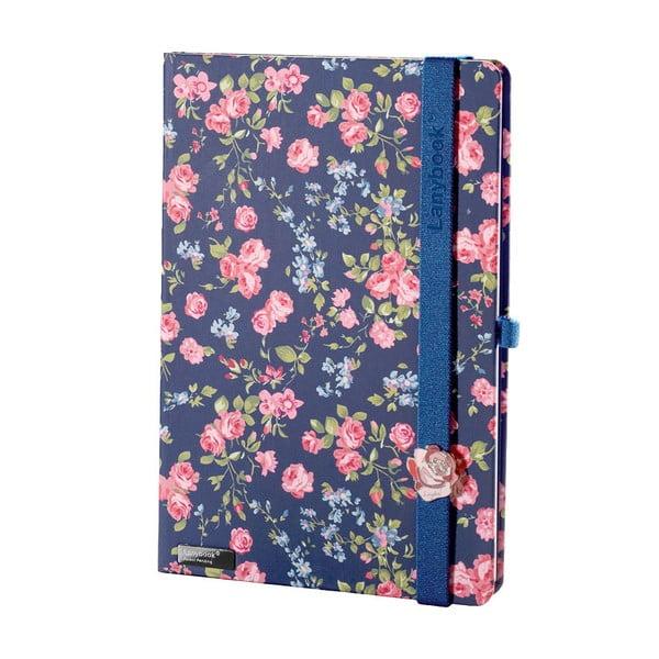 Zápisník Bloomy Rose Blue, A5