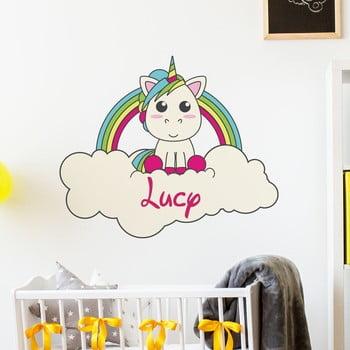 Autocolant de perete cu nume Ambiance Unicorn On His Cloud de la Ambiance