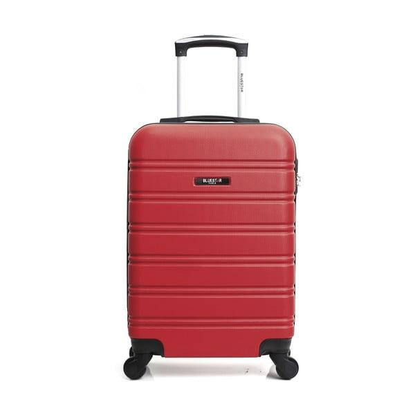 Červené zavazadlo na 4 kolečkách Bluestar Santa Barbara