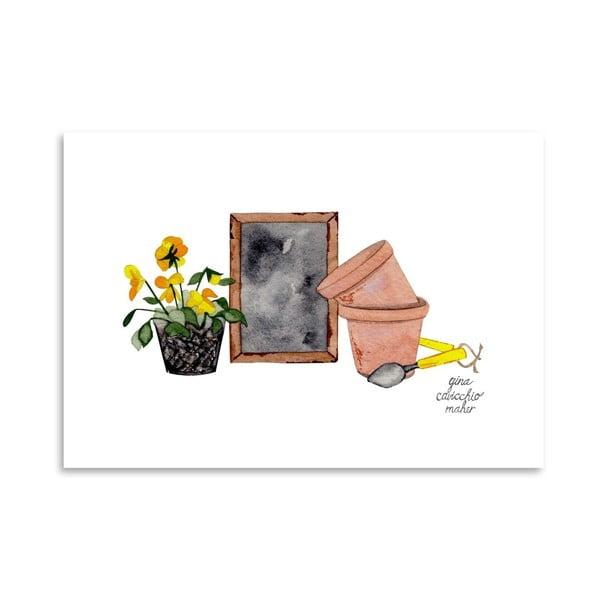 Autorský plakát Gardener, 30x42 cm