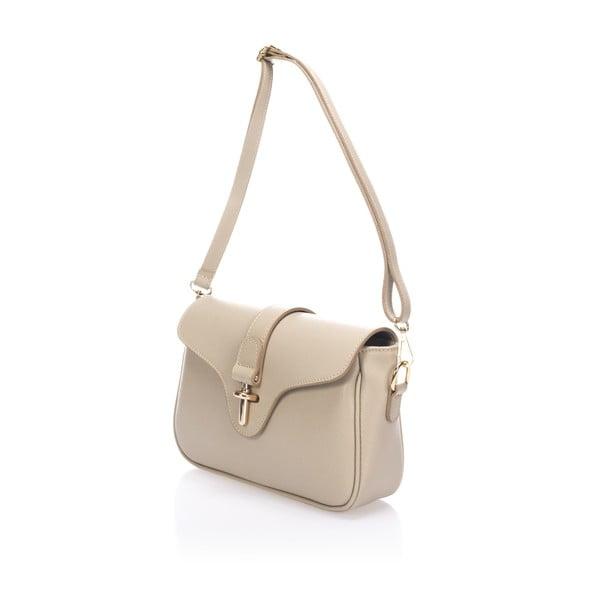 Béžová kožená kabelka Markese Tulisa