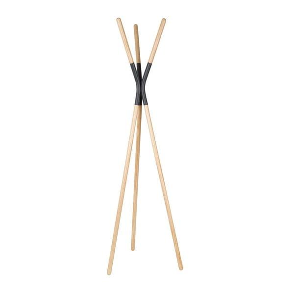 Cuier din lemn de pin cu detalii gri Zuiver Pinnacle