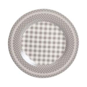 Jídelní talíř Grey Dots&Checks, 25.5 cm