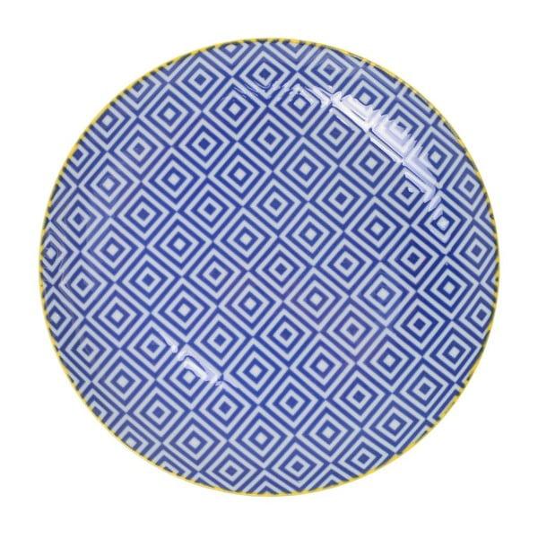 Porcelánový talíř Geo Blue, 23,8x2,6 cm