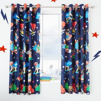 Set 2 draperii pentru camera copiilor Catherine Lansfield Super Dog, 168 x 183 cm, albastru imagine