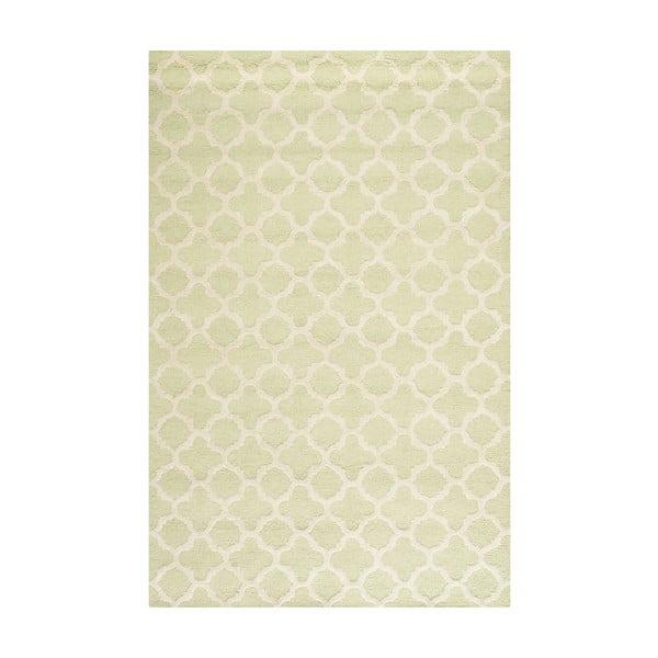 Vlněný koberec Safavieh Bessa Light Green, 182 x 121 cm