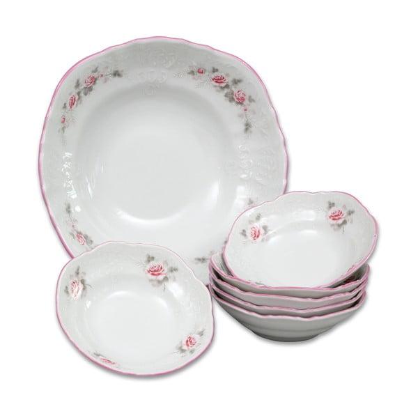 Sada porcelánových misek s růžičkami Thun Bernadotte