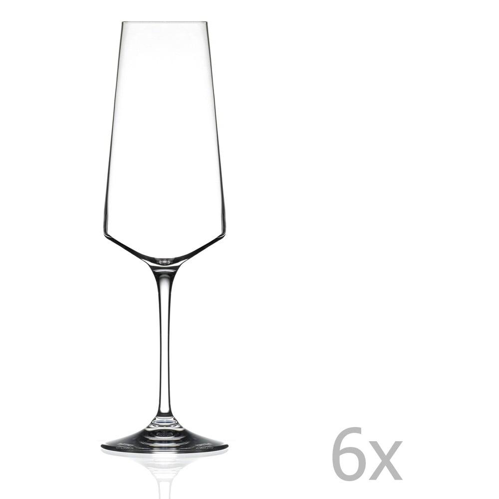 Sada 6 sklenic na sekt RCR Cristalleria Italiana Alessa