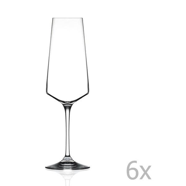 Alessa 6 db-os pezsgőspohár készlet - RCR Cristalleria Italiana
